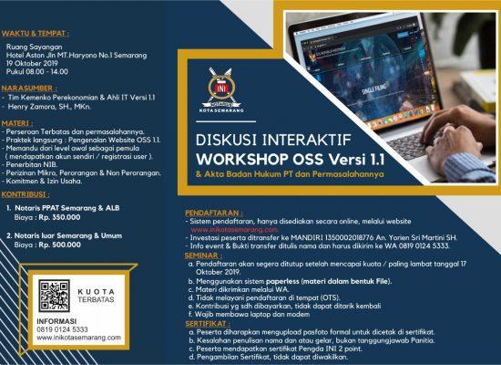 DISKUSI INTERAKTIF WORKSHOP OSS Versi 1.1